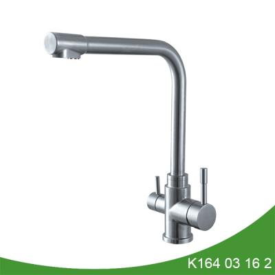 Stainless steel 3 way kitchen faucet with filter K164 03 16 2