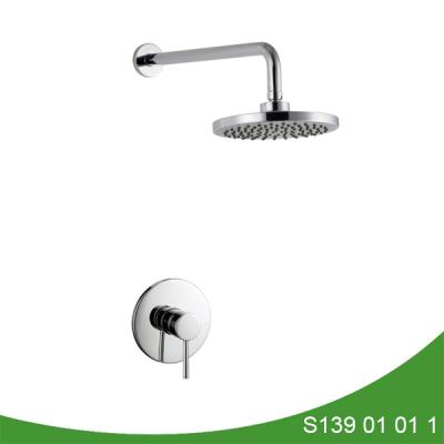 Concealed brass hot and cold shower set