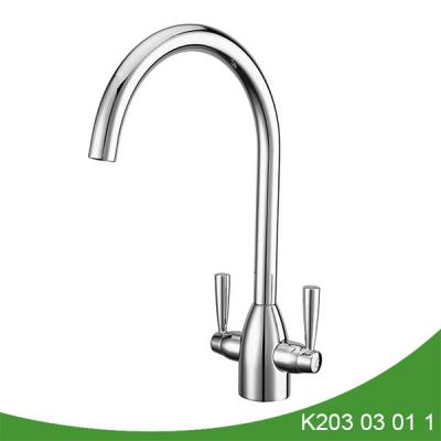 Double handle kitchen sink water tap