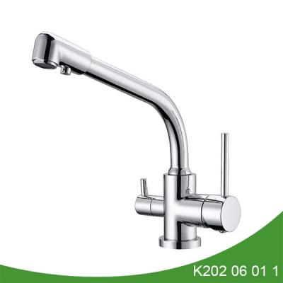 Double handle kitchen faucet with filter K202 06 01 1