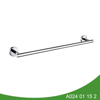 Polished stainless steel towel bar for bathroom