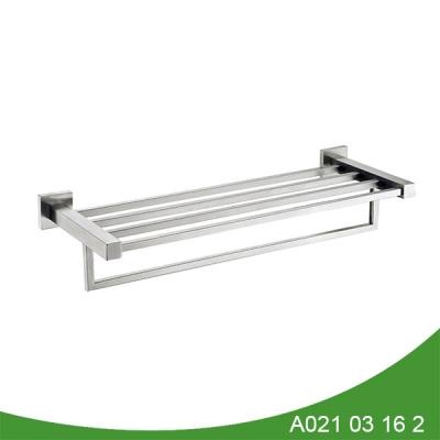 Bath brushed nickel stainless steel towel shelf
