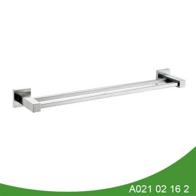 Modern stainless steel double towel shelf