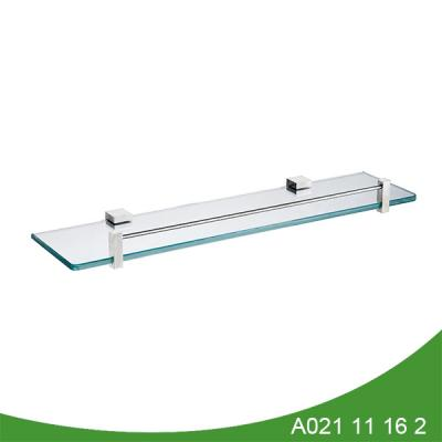 Wall mounted bathroom glass towel rack and shelf