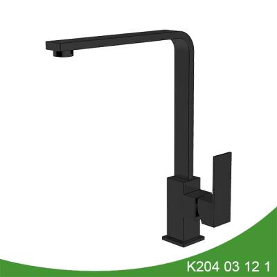 Matt black single handle kitchen faucet K204 03 12 1