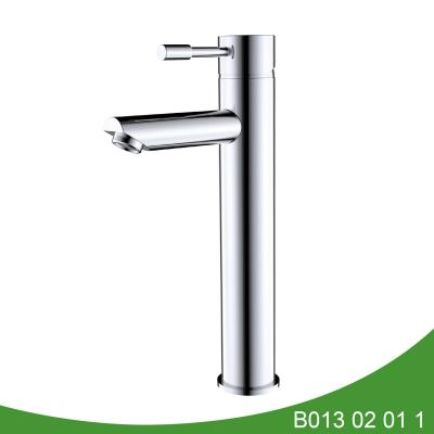 Single handle chrome tall basin faucet B013 02 01 1