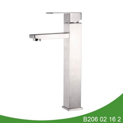 Single handle stainless steel tall basin faucet B206 02 16 2