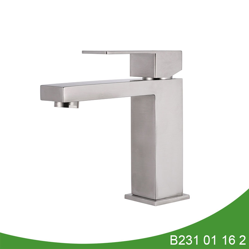 Stainless steel basin faucet B231 01 16 2