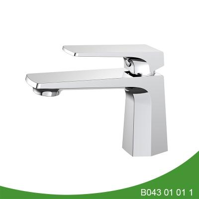 Hexagon style single handle basin faucet